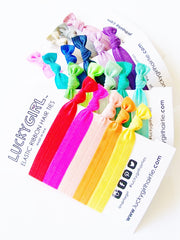 Lucky Girl Hair Ties, 20 Ponytail Holders