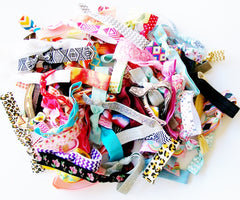 Hair Ties, Set of 20, The Grab Bag, Lucky Girl Hair Ties