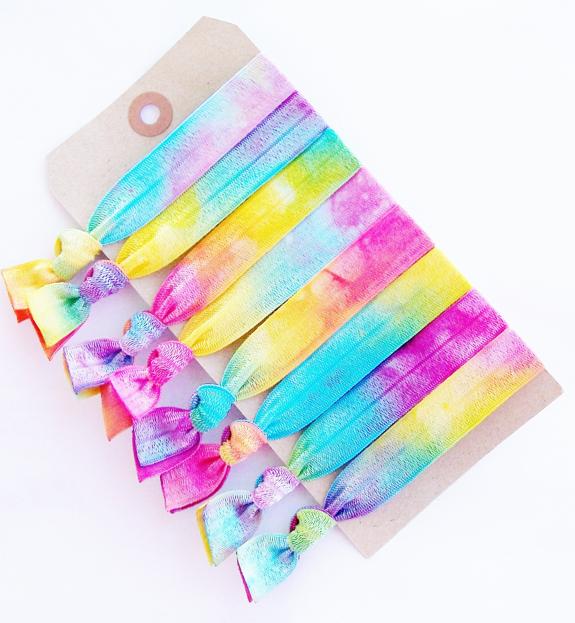 Festival Hair, Elastic Ribbon Ponytail Holders