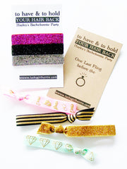 To Have & To Hold Your Hair Back, Hair Tie Party favors
