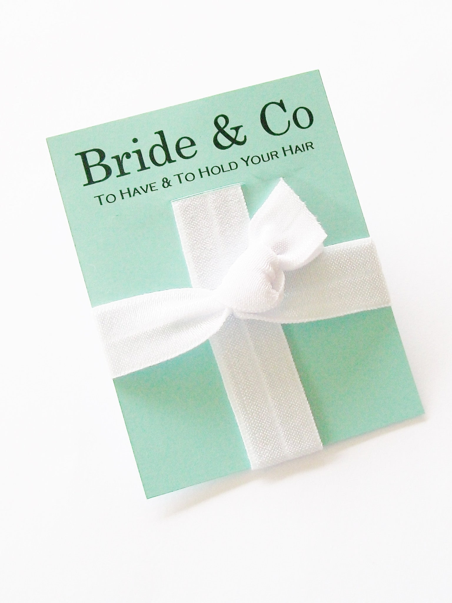 Tiffany Blue Hair Tie Party Favor