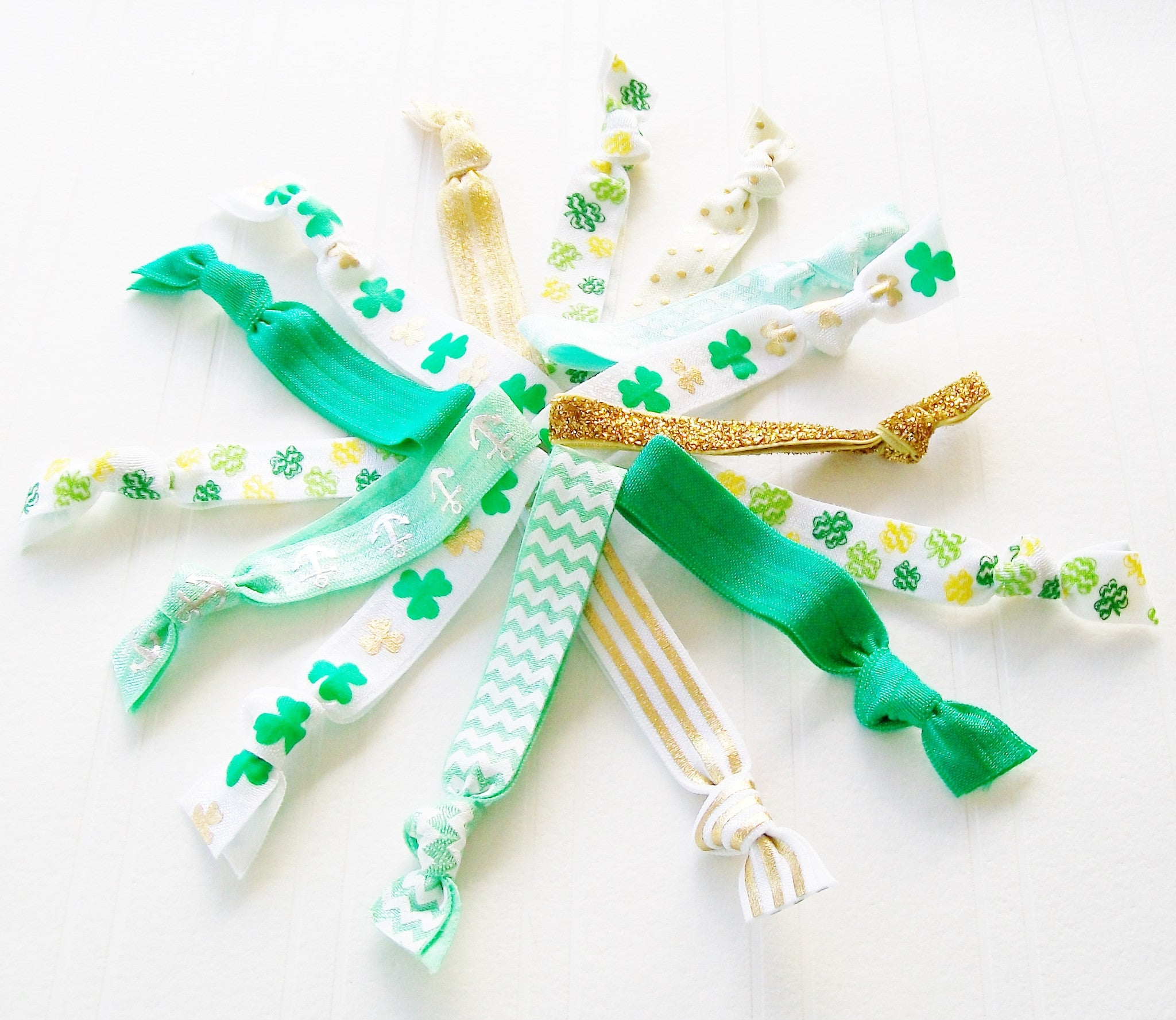 St. Patrick's Day Hair Tie Gift Set, Grab Bag Mix of 20