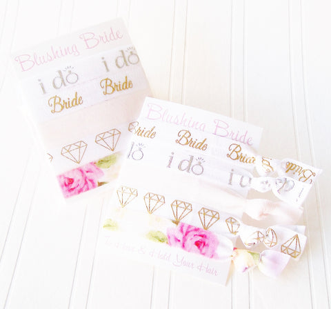 Blushing Bride Gift Set of Hair Ties