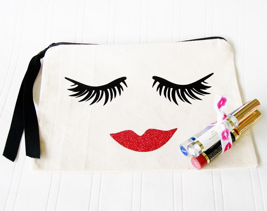 Make Up Bag, Special Editon Fancy Face Lipstick Eyelash Cosmetic Bag Purse