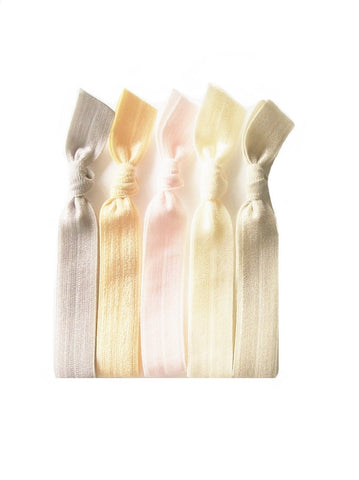 Solid Color Hair Ties, Pearl Essence