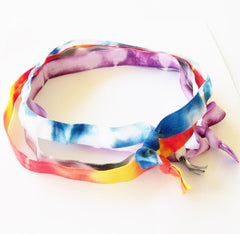 Headband, Set of 4, Tie Dye Headbands