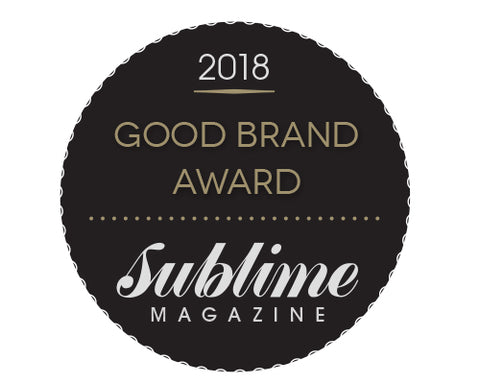 Sublime Magazine Good Brand Award 2018