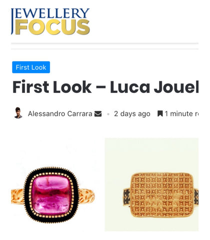 Jewllery Focus magazine First Look Luca Jouel