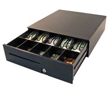 "APG Series 100 Cash Drawer, 24V MultiPRO, Media Slot,16""(W)x16""(D),Black, 5 yr warranty"