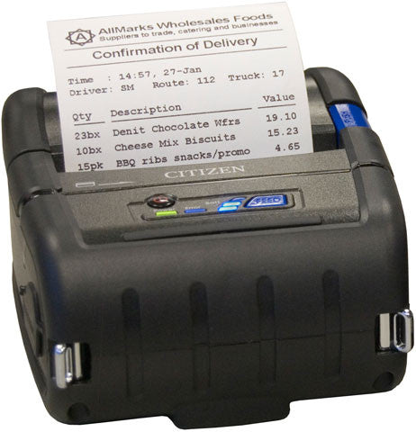 "Citizen CMP-30BTU 3"" Mobile Thermal Printer,Bluetooth"