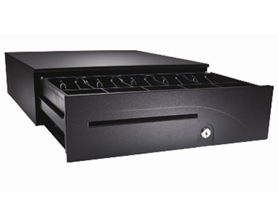 "APG Series 100 Cash Drawer, SerialPRO, Media Slot,16""(W)x16""(D),Black, 5 yr warranty"