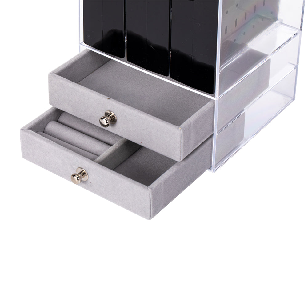 Transparent Cabinet Jewelry Display Stand
