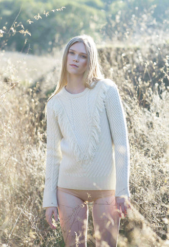 Ashbury Fringe Sweater in Natural