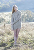 Bolinas Cable Knit Sweater in Heather Grey