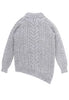 Bolinas Cable Knit Sweater Back View in Heather Grey