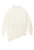 Bolinas Cable Knit Sweater Front View in Natural