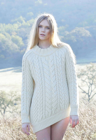 Bolinas Cable Knit Sweater in Natural