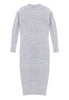 Mt. Tam Sweater Dress Back View in Heather Grey