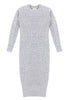 Mt. Tam Sweater Dress Front View in Heather Grey
