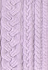 Charlie Croppy Cable Sweater Swatch in Lilac