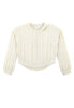 Charlie Croppy Cable Sweater Front View in Natural