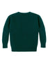 Caitlin Chevron Rib Boatneck Sweater Back View in Forest Green