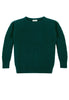 Caitlin Chevron Rib Boatneck Sweater Front View in Forest Green