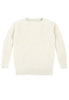 Caitlin Chevron Rib Boatneck Sweater Front View in Natural