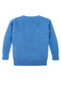 Caitlin Chevron Rib Boatneck Sweater Back View in Sky Blue