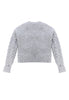 Mt. Tam Croppy Cable Crewneck Sweater Back View in Heather Grey