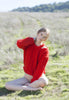 Charlie Croppy Cable Sweater in Poppy Red