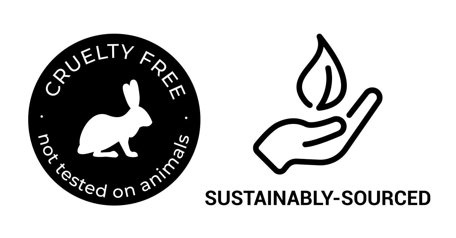 cruelty free and sustainably sourced