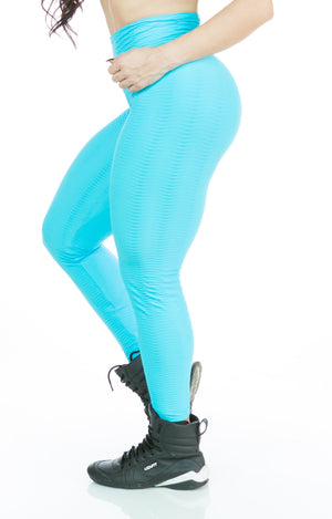 Acqua Wave Textured Legging - Acqua Wave Textured Brazilian Legging