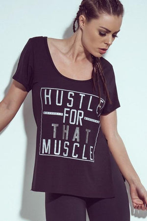 That Muscle Top Black - Bad Girl Fitness