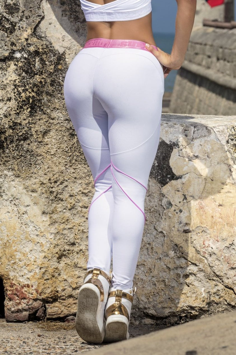 White Brazilian Workout Legging