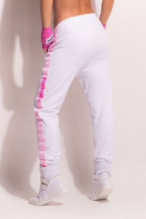 Fight Club Jogger Pants - White Jogger Pants