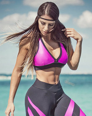 Band Pink Cire Sports Bra - Bad Girl Fitness