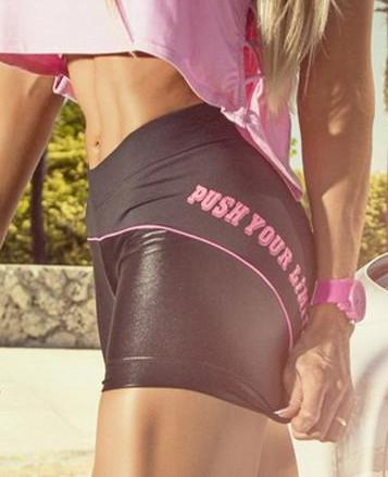 Push Your Limits Brazilian Shorts - Bad Girl Fitness