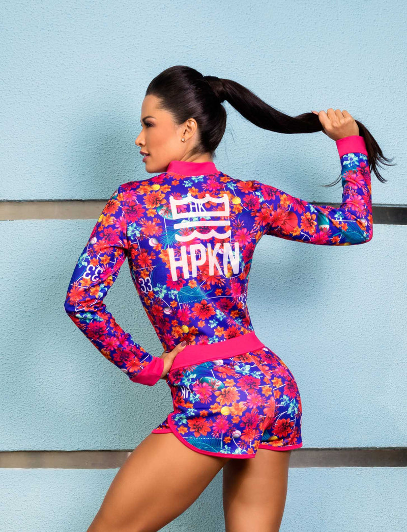 Floral Brazilian Jacket - Bad Girl Fitness