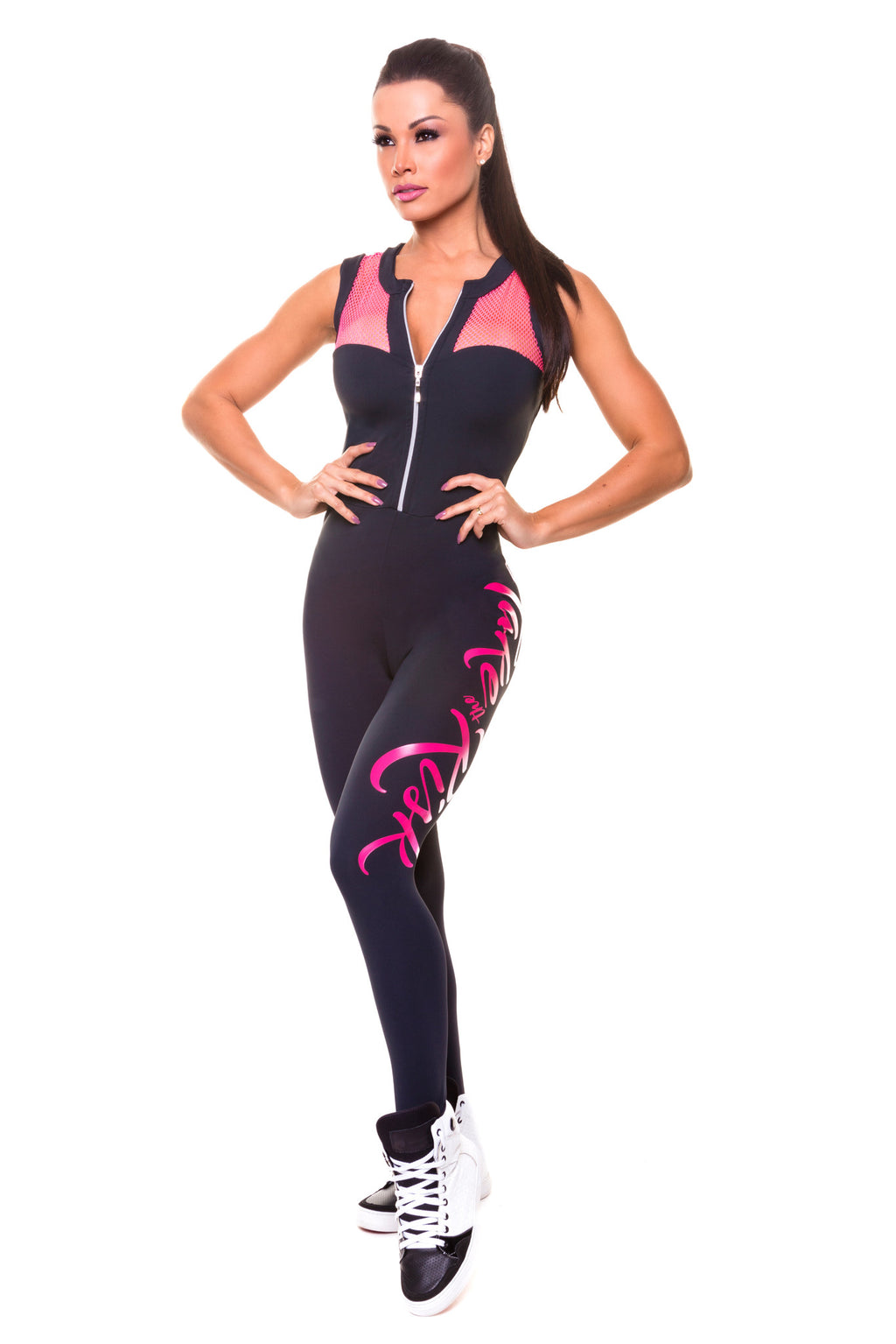 Braun Brazilian Workout Jumpsuit - Bad Girl Fitness