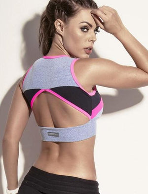 Super Pink Sports Bra - Bad Girl Fitness