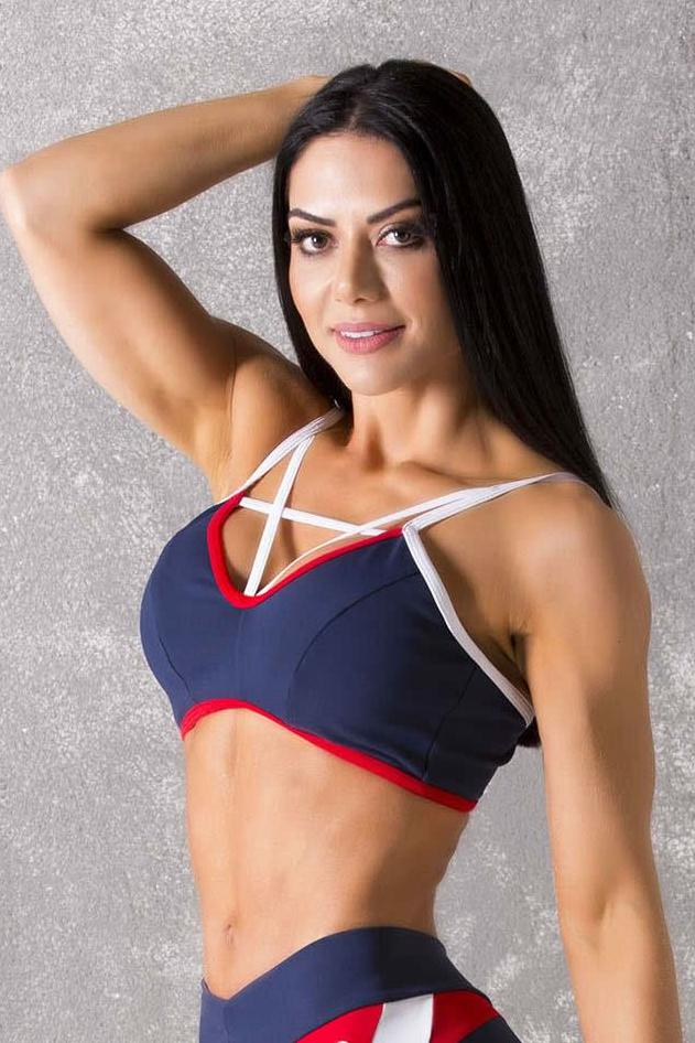 Brazilian Workout Sports Bra - Navy Blue Sports Bra