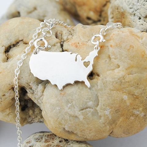 Sterling silver California state Necklaces, Customized Necklaces