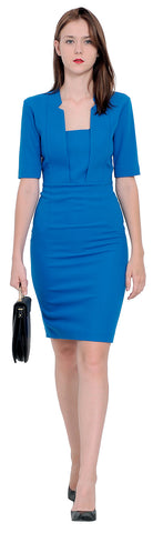 Womens Work Office Business Wiggle Pencil Dress