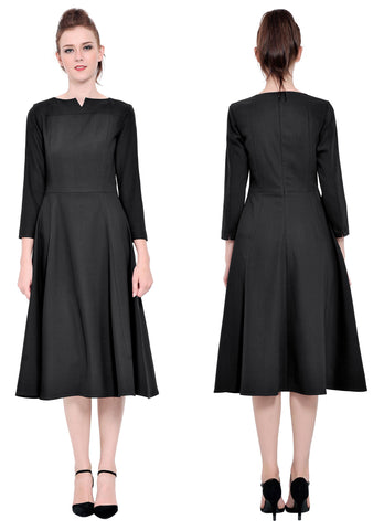 Classy Vintage 1960s Office Work A Line Dress