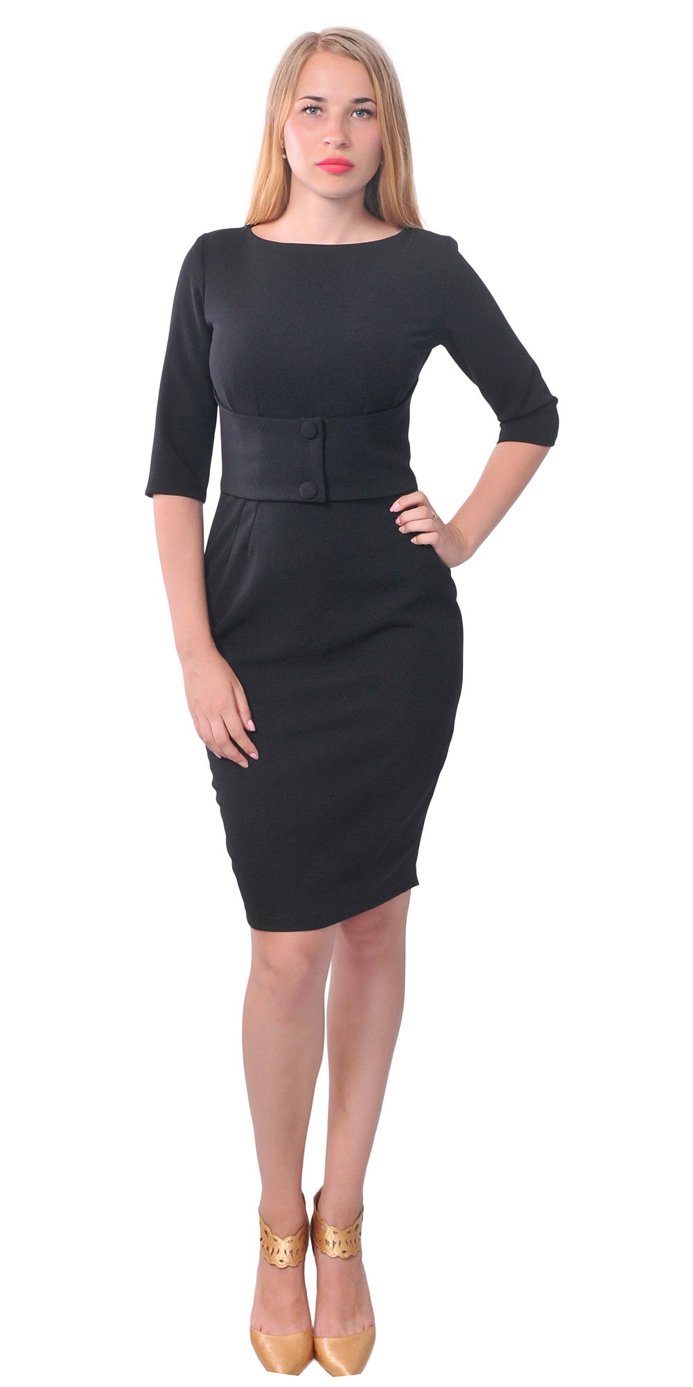 Classy Vintage 60s Work Office Wiggle Pencil Dress