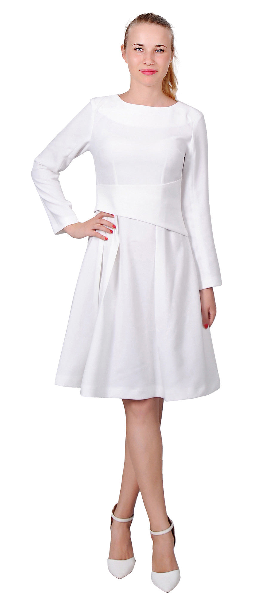 White dress for church - Womens Lady Classy Dress Office Work Church A Line Dresses