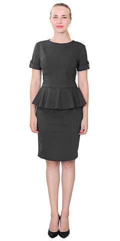 Marycrafts Peplum Knee length Office dress