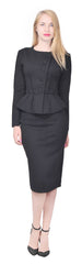 Women's Formal Office Business Shirt Jacket Skirt Suit Set