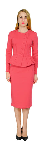 742c319de Women's Formal Office Business Shirt Jacket Skirt Suit Set